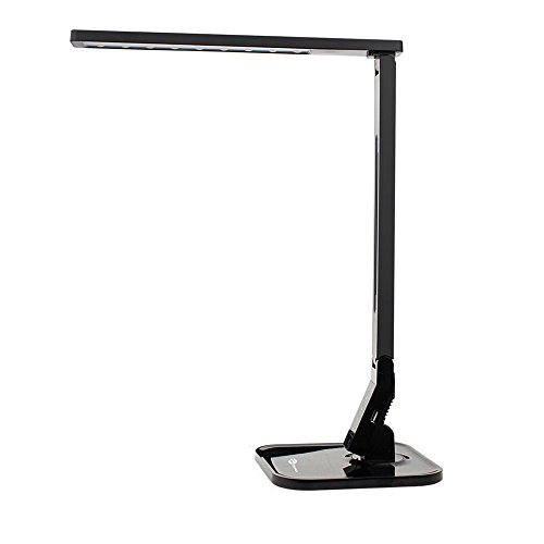 TaoTronics Elune TT-DL01 Dimmable LED Desk Lamp 5-Level Dimmer, Touch-Sensitive Control Panel, 1-Hour Auto Timer, 5V/1A USB Charging Port - Piano Black (Amazon Touch Lamps compare prices)