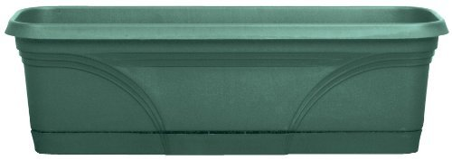 Dynamic Design Mb3012Fe Medallion Deluxe 30-Inch Poly Window Box With Saucer, Fern Color: Fern Size: 30-Inch Outdoor/Garden/Yard Maintenance (Patio & Lawn Upkeep)