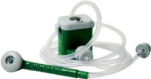 Texsport Battery Powered Camp Shower (Green/White)