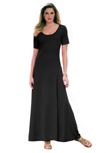 Jessica London Women's Plus Size Petite Maxi Dress Black,18 P