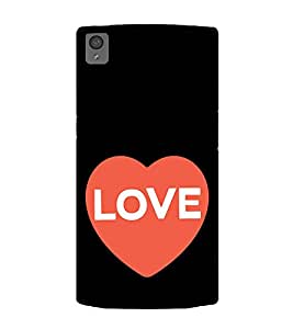 Love Heart 2D Hard Polycarbonate Designer Back Case Cover for OnePlus X :: One Plus X :: One+X