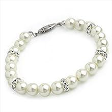 Pulsera de cristal con perlas cristalizadas Bl07418