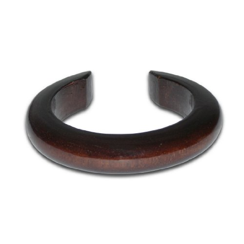Ladies Thai Boho Eco-Friendly Mango Wood Smooth / Carved Bangle / Bracelet / Cuff