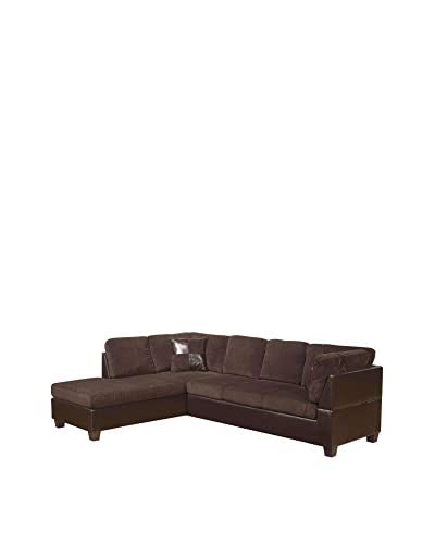 Acme Furniture Connell Sectional Sofa, Espresso/Chocolate