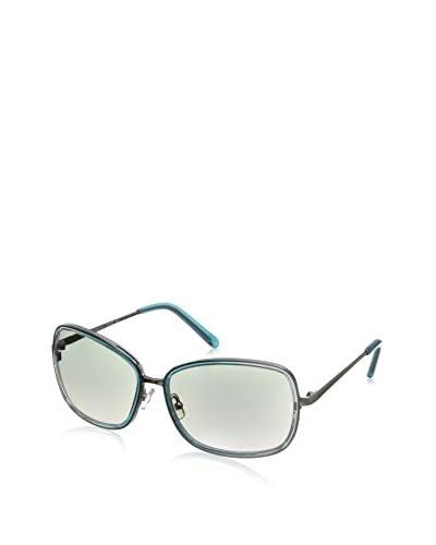Calvin Klein Women's CK7315S Sunglasses, Blue/Silver