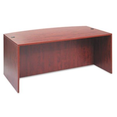 Alera VA227236MC - Valencia Bow Front Desk Shell, 71w x 35-1/2d to 41-3/8d x 29-1/2h, Medium Cherry