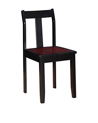 Linon Home Décor Camden Chair, Black Cherry