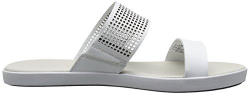 Lacoste Women's Natoy Slide Flat Sandal, White, 8 M US
