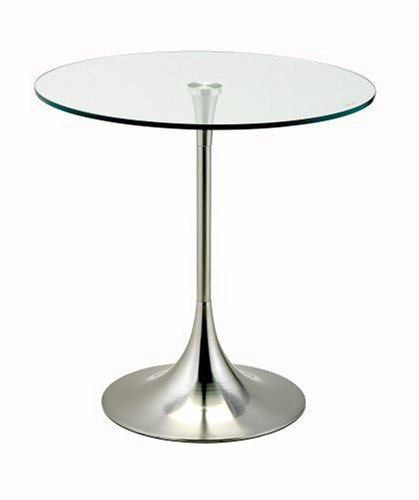Adesso Coronet Accent Table, Satin Steel