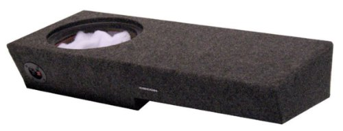 "R/T Single 10"" Ford F150 2004 - 2008 Super Crew Cab Vented Speaker Box (Driver Side) With Labyrinth Power Port"