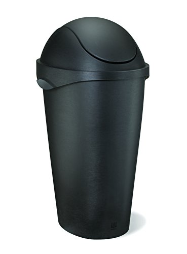 Umbra swinger 12 gallon swing top waste can black 028295278157 - Umbra mini trash can ...