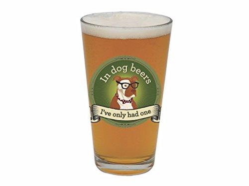 Santa Barbara Design Studio In Dog Beers Barstool Philosopher Pint Glass, Multicolor (Funny Beer Stein compare prices)