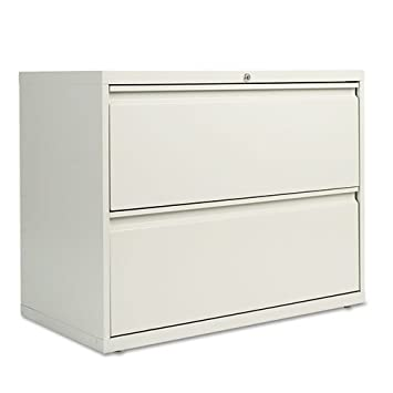 Alera Two-Drawer Lateral File Cabinet, 36w x 19-1/4d x 29h, Light Gray