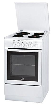 Indesit I5E6AE(W) FR cuisinière - fours et cuisinières (Autonome, Blanc, Electrique, conventionnel, Grill, réchauffer, 0 - 220 °C, A)