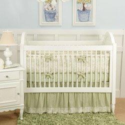 Baby Toile 3 Piece Crib Bedding Set - Color: Green