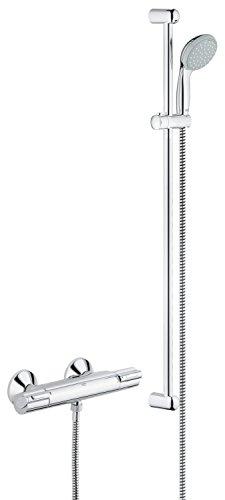 Grohe 34256001 grohtherm 1000 bater a para ducha con for Termostato para ducha