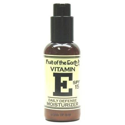 Fruit Of The Earth Vitamin-E Moisturizer Daily Defense 4 Oz. Spf #15