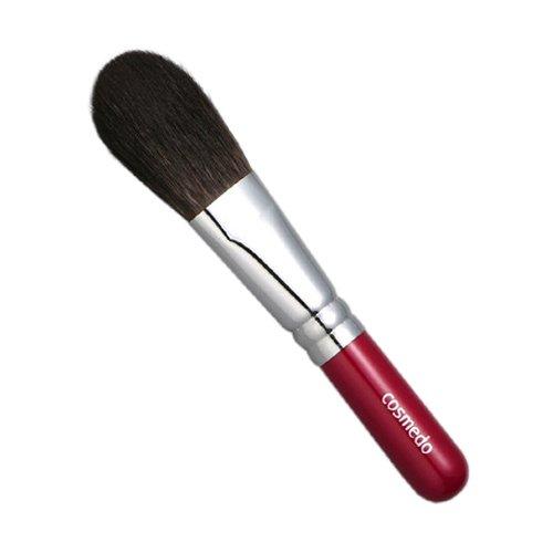 匠の化粧筆コスメ堂 熊野筆メイクブラシ ショートタイプ 灰リス100%チークブラシ平筆タイプ
