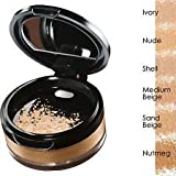 Avon Calming Effect SHELL Loose Powder Mineral Foundation and kabuki brush