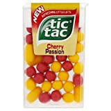 Tic Tac Cherry Passion Fruit Flavoured - 13g (Pack of 12) Limited Edition