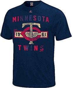 Minnesota Twins Navy Cooperstown Desire More T Shirt by Majestic by Majestic