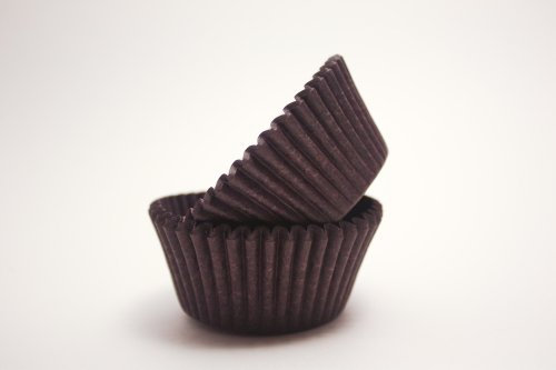 Mini Brown Cupcake Liners - 525 Count (Cupcake Liners Bulk compare prices)