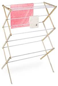 Pro-Mart DAZZ Knock Down Clothes Drying Rack, 27-Feet of Drying Space, Wood