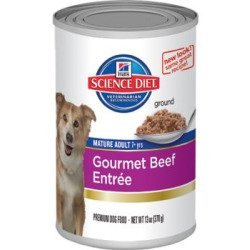 Hill's Science Diet Adult Gourmet Beef Entree Dog Food Can, 13 oz, 12 pack