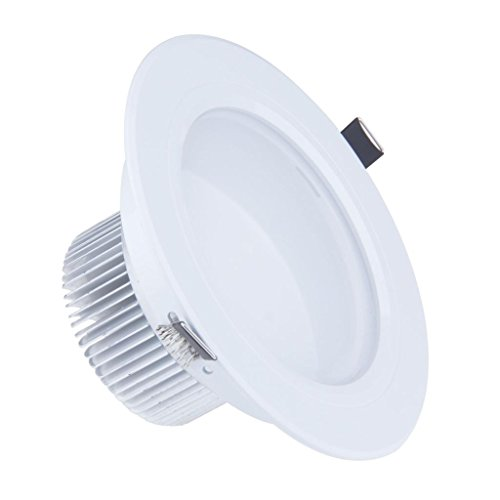 Lemonbest Dimmable 9W Led Ceiling Light Downlight Floodlight Lamp Recessed Lighting Fixture Halogen Bulb Replacement Warm White