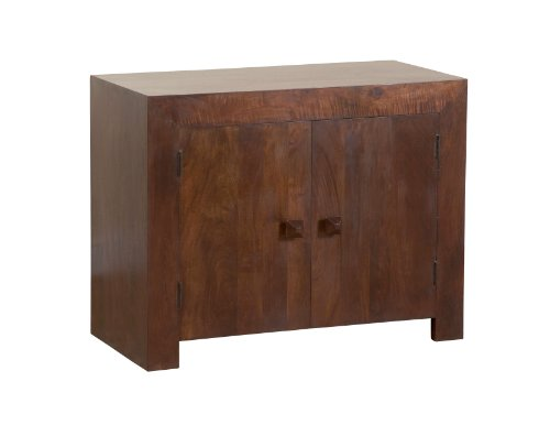 Homescapes - Dakota - Side Board Small - Dark - 100% Solid Mango Hard Wood - ( No Veneer ) Hand Crafted Furniture