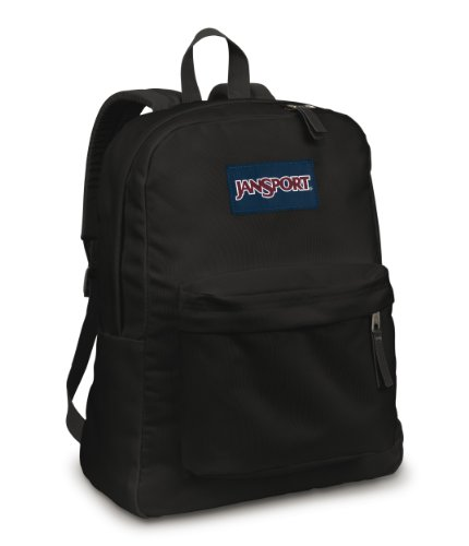 Jansport Superbreak Classic Backpack Black front-8896