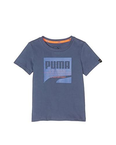 Puma T-Shirt Manica Corta Style Tee [Blu]