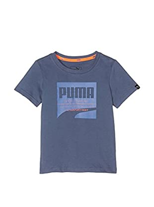 Puma Camiseta Manga Corta Style Tee (Azul)