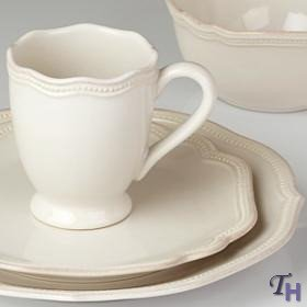 Lenox 4-Piece French Perle Bead Dinner Set, White at Sears.com