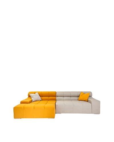 Kardiel Cubix Modern Modular Sofa Sectional Left, Sunrise