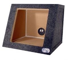 "R/T Single 10"" Sealed Kicker Speaker Box For Solobaric Subs-1"" Mdf"