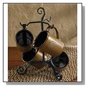 Black Village Scroll Mug Rack