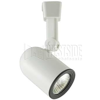 Halo LZR311PL Track Lighting, Lazer Line Voltage MR16 Roundback Cylinder Track Fixture - White