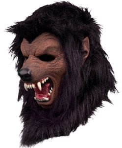 Werewolf Fur Halloween Mask - Black