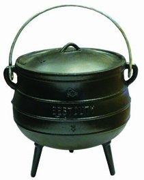 Best Duty Cast Iron Potjie Pot Size 8 - Include complementary Lid Lifter Knob ($9,95 value) (Cast Iron Potjie compare prices)
