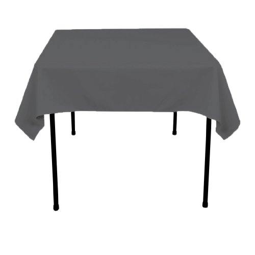 Linentablecloth Square Polyester Tablecloth, 54-Inch, Charcoal front-181951