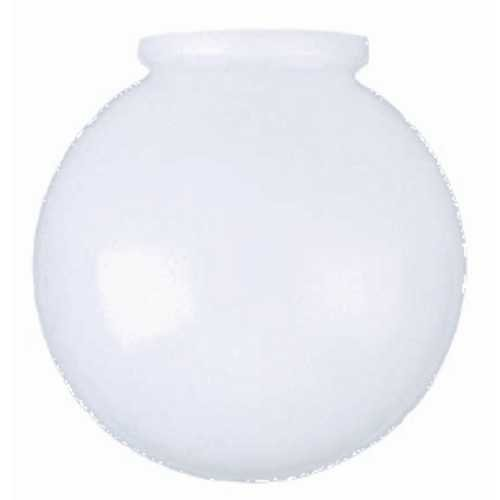 replacement shades tools home improvement 8 inch white glass globe. Black Bedroom Furniture Sets. Home Design Ideas