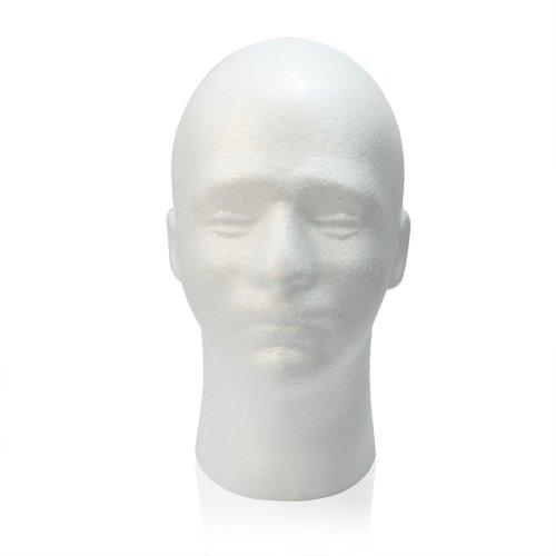 Male Styrofoam Foam Mannequin Manikin Head Stand Model Display Wig Glasses Hat