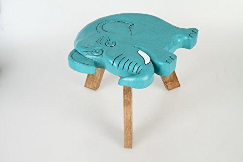Taburetes para niños, hechos de madera maciza con motivo de