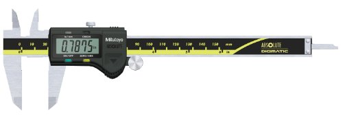Mitutoyo 500-171-20 Digital Calipers, Battery Powered, Inch/Metric, for Inside, Outside, Depth and Step Measurements, Stainless Steel, 0