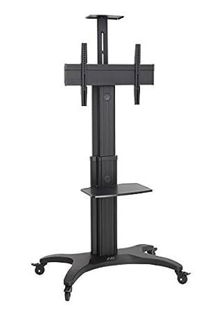 AVF1500 - pie 60-1P TV, con ruedas, TV-carro, móvil con ruedas observan, Alu, negro