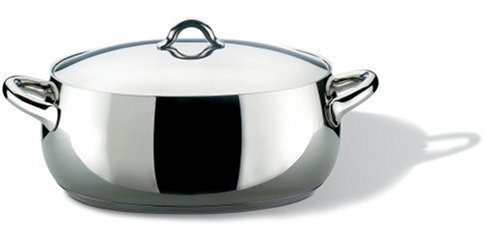 Alessi Mami Oval Casserole  & Lid, Stainless Steel, 30 cm (SG112/30)