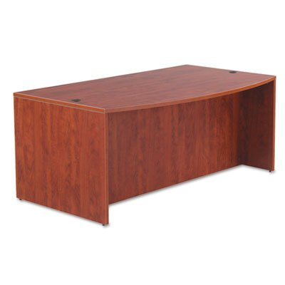 Alera VA227236MC Valencia Series 72 by 42 by 29-1/2-Inch Bow Front Desk Shell, Medium Cherry