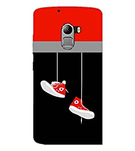 PrintDhaba Hanging Shoes D-3511 Back Case Cover for LENOVO VIBE X3 c78 (Multi-Coloured)