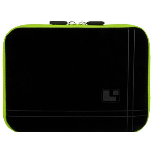 8 Inch Tablet Case Toxic Green Neoprene Bubble Padded Zippered Sleeve (Fits the Barnes and Noble Nook Color, Simple Touch, Tablet, and Touch)